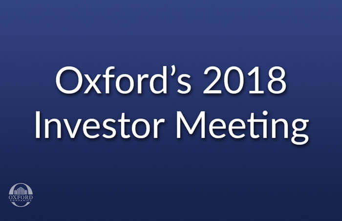 Oxford companies investor meeting
