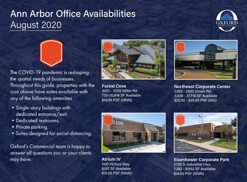 Available Ann Arbor Office Space